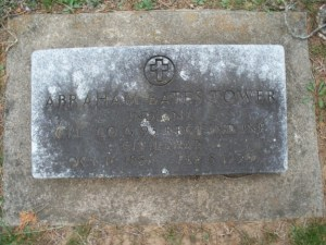 Gravestone for Abraham Bates Tower