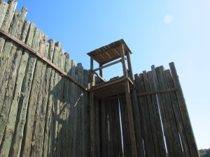 Photo by Virginia Allain - Guard post at Andersonville Prison in Georgia