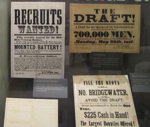 Sampling of Civil War recruitment flyers.